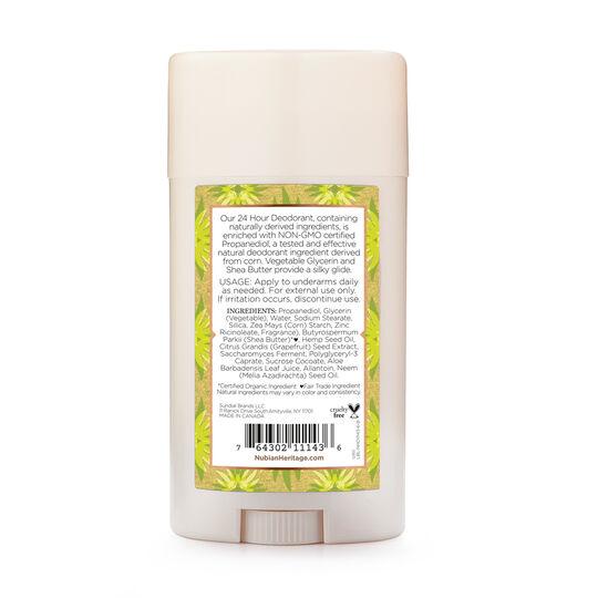Indian Hemp & Haitian Vetiver 24 Hour Deodorant