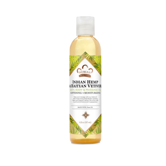 Indian Hemp & Haitian Vetiver Bath, Body & Massage Oil