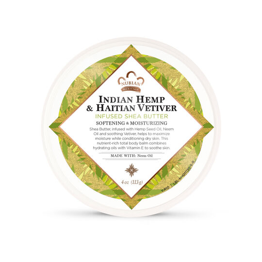 Indian Hemp & Haitian Vetiver Infused Shea Butter