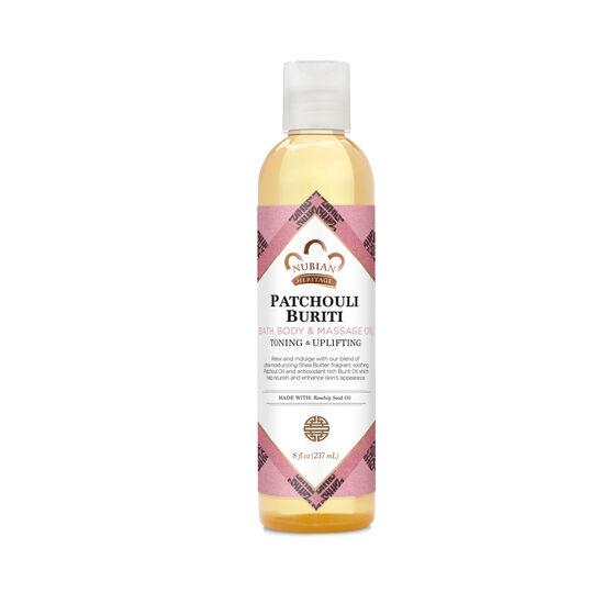 Patchouli & Buriti Bath, Body & Massage Oil