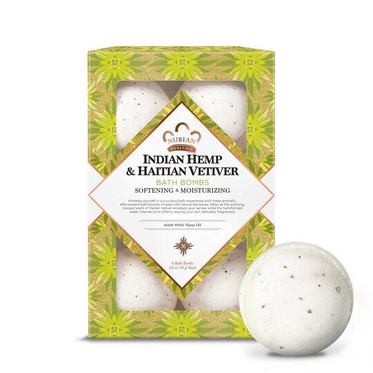 Indian Hemp & Haitian Vetiver Bath Bombs